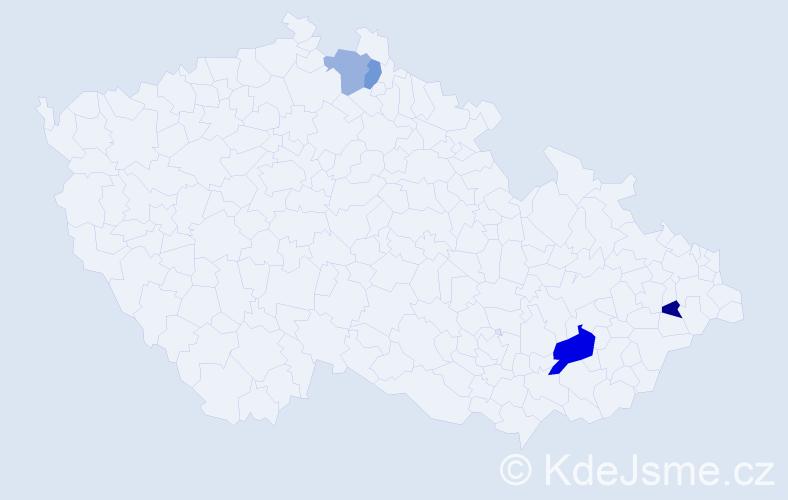 Příjmení: 'Dennis', počet výskytů 6 v celé ČR