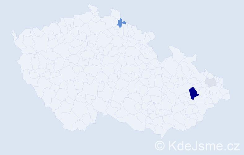 Příjmení: 'Fojtik', počet výskytů 6 v celé ČR