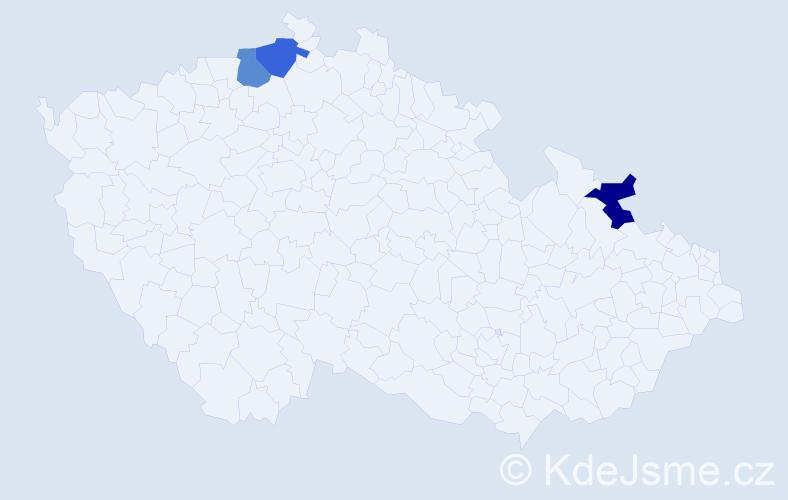 Příjmení: 'Donato', počet výskytů 3 v celé ČR