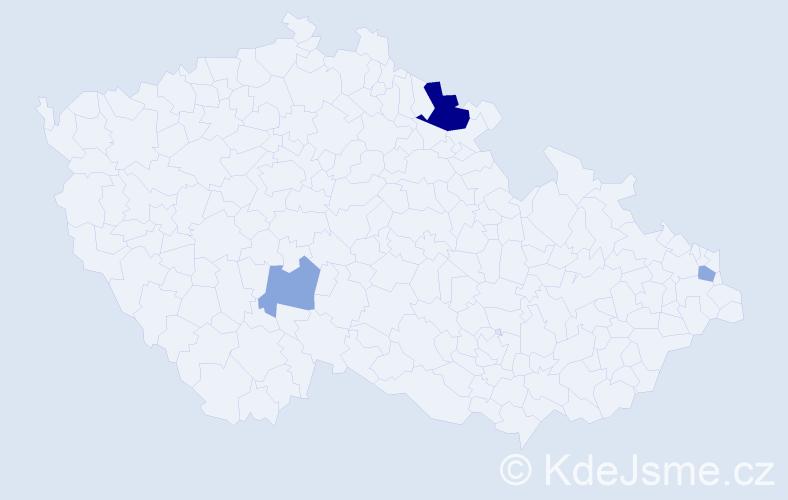 Příjmení: 'Jankušíková', počet výskytů 6 v celé ČR