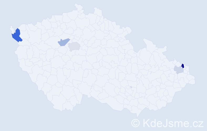Příjmení: 'Hamrozy', počet výskytů 8 v celé ČR