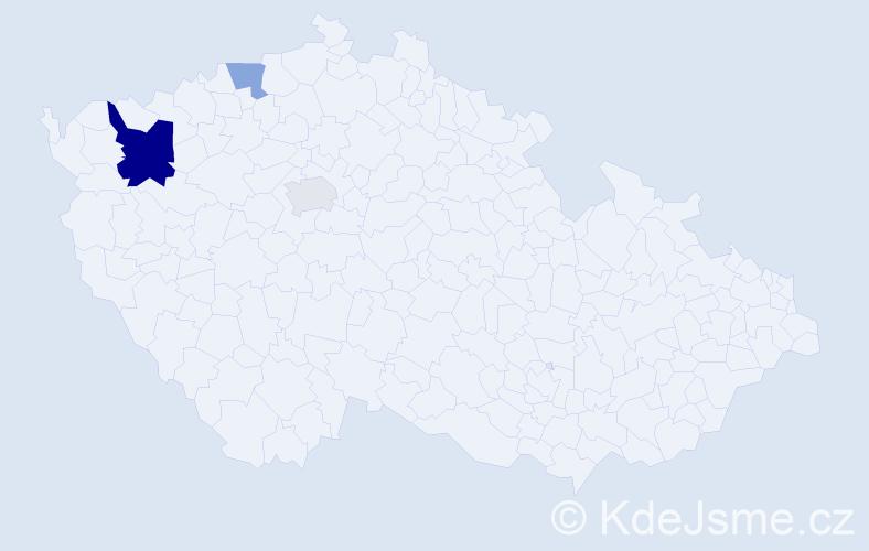 Příjmení: 'Ashoor', počet výskytů 6 v celé ČR