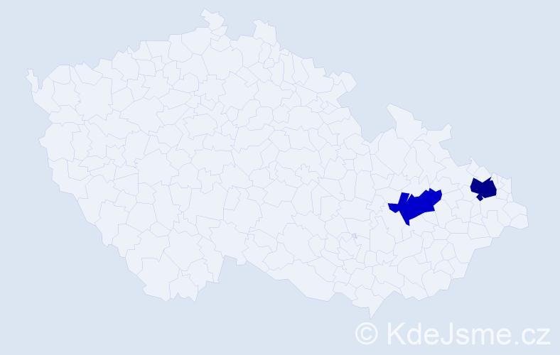 Příjmení: 'Kavanagh', počet výskytů 6 v celé ČR