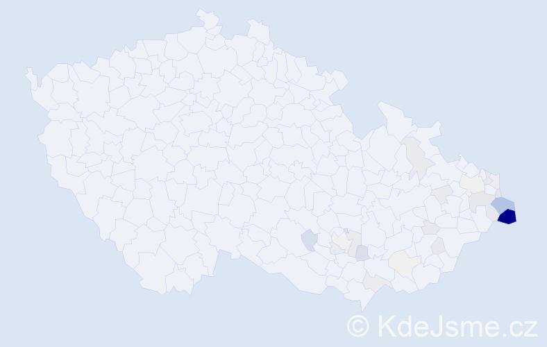 Příjmení: 'Jochymková', počet výskytů 120 v celé ČR