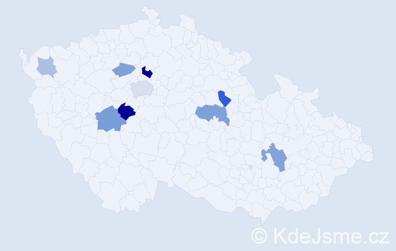 Příjmení: 'Chroumal', počet výskytů 17 v celé ČR