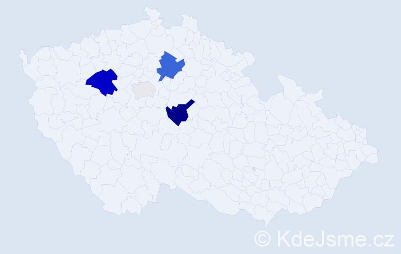 Příjmení: 'Izaj', počet výskytů 10 v celé ČR