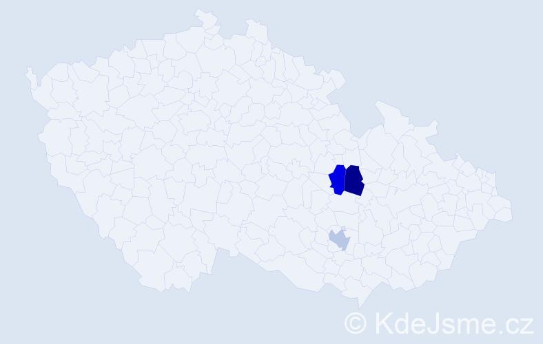 Příjmení: 'Halonek', počet výskytů 3 v celé ČR