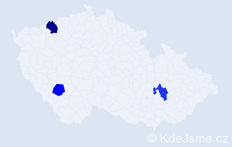 Příjmení: 'Fejfer', počet výskytů 9 v celé ČR