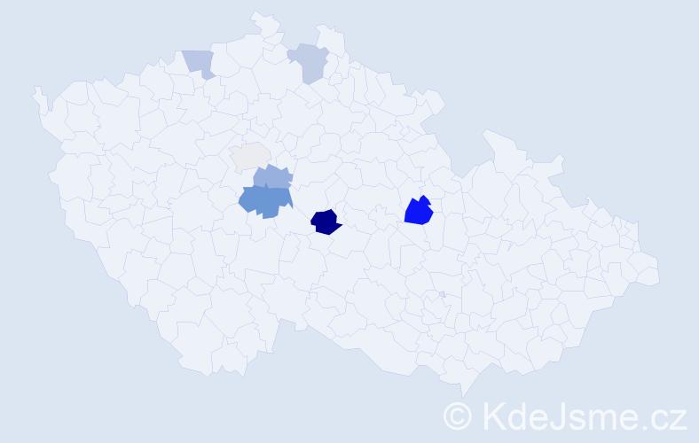 Příjmení: 'Embacherová', počet výskytů 10 v celé ČR