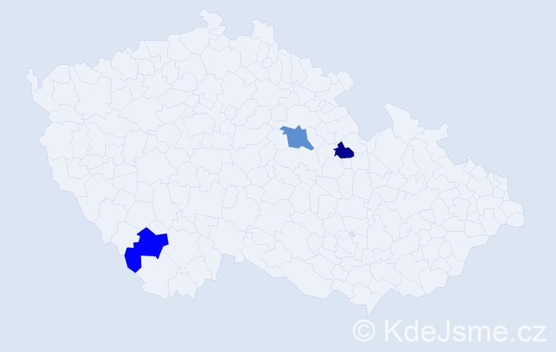 Příjmení: 'Bankov', počet výskytů 7 v celé ČR