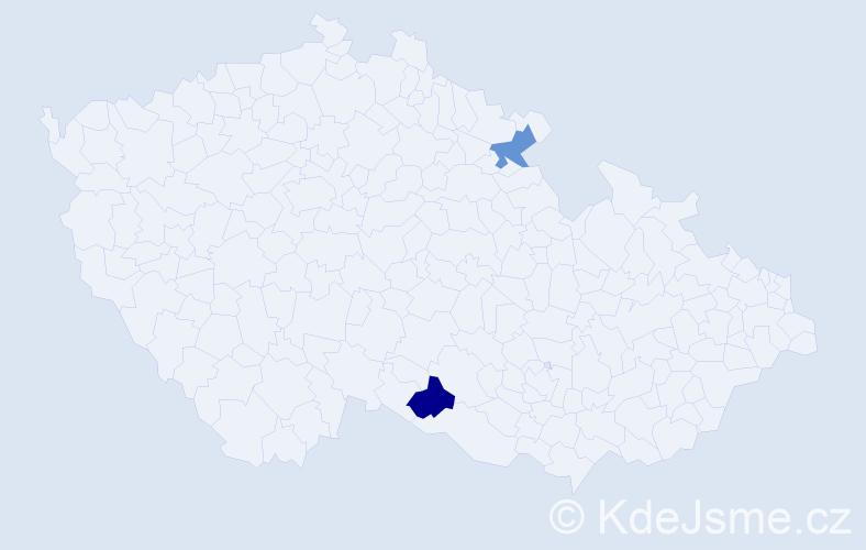 Příjmení: 'Charwat', počet výskytů 2 v celé ČR
