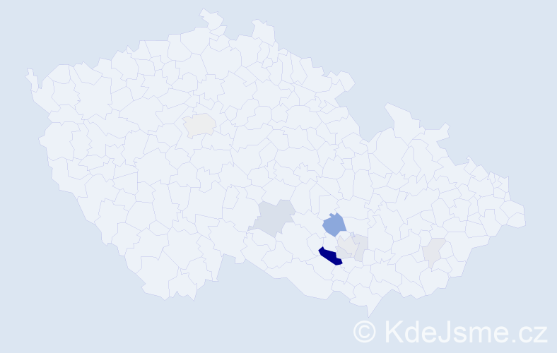 Příjmení: 'Eibel', počet výskytů 23 v celé ČR