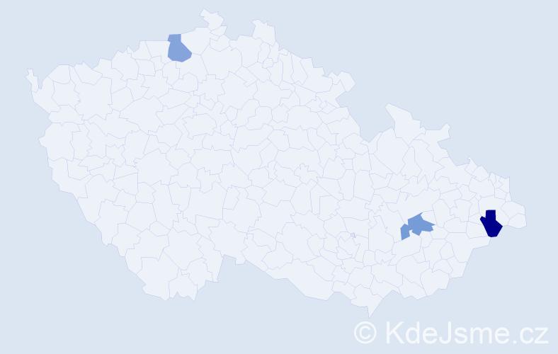 Příjmení: 'Bednárský', počet výskytů 3 v celé ČR