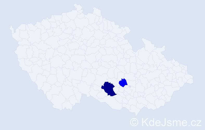 Příjmení: 'Genšiniák', počet výskytů 4 v celé ČR
