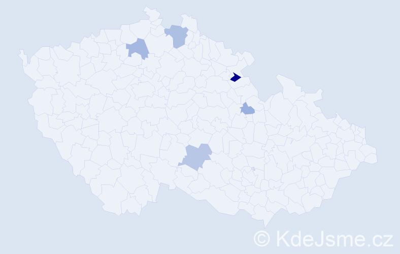 Příjmení: 'Kristufová', počet výskytů 11 v celé ČR