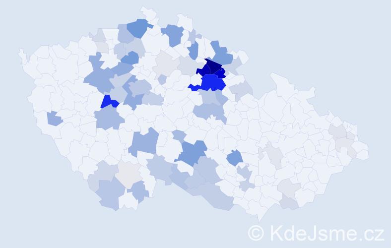 Příjmení: 'Jahelka', počet výskytů 232 v celé ČR