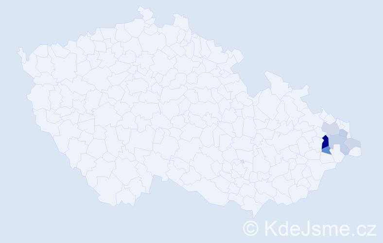 Příjmení: 'Golik', počet výskytů 20 v celé ČR
