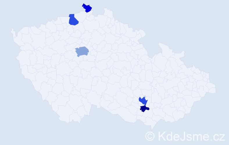 Příjmení: 'Drahan', počet výskytů 14 v celé ČR