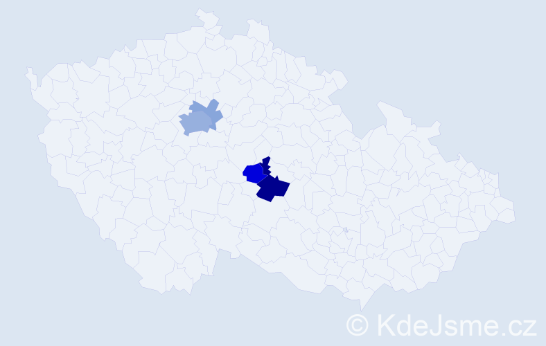 Příjmení: 'Glozlová', počet výskytů 12 v celé ČR