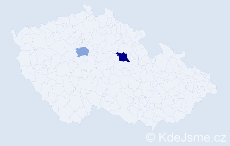 Příjmení: 'Ganev', počet výskytů 8 v celé ČR