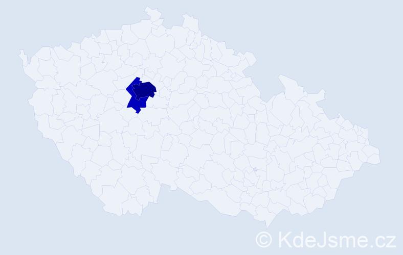 Příjmení: 'Cízner', počet výskytů 9 v celé ČR