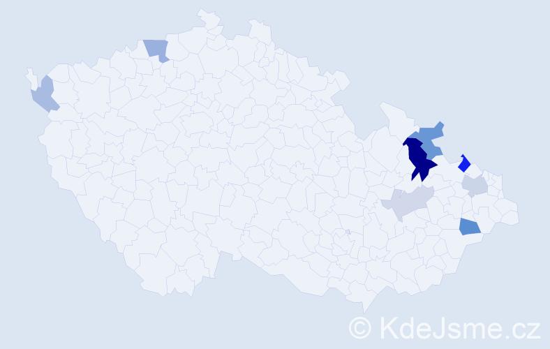 Příjmení: 'Gesierich', počet výskytů 17 v celé ČR