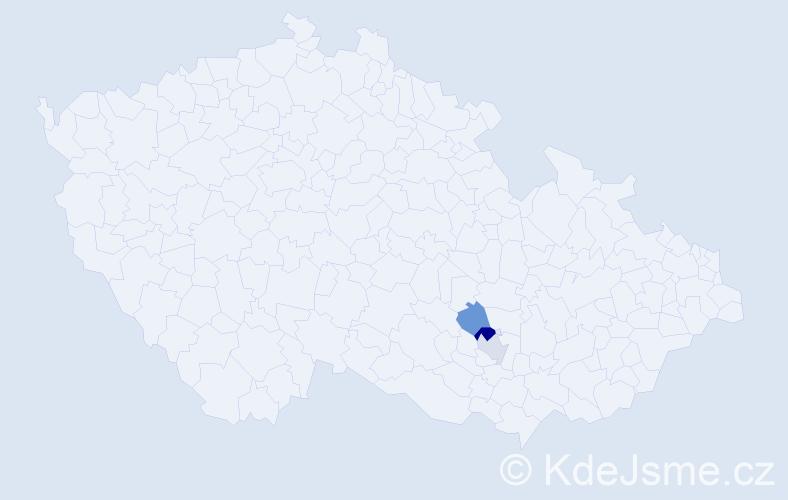 Příjmení: 'Engelbrechová', počet výskytů 4 v celé ČR