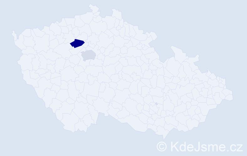 Příjmení: 'Čečo', počet výskytů 4 v celé ČR
