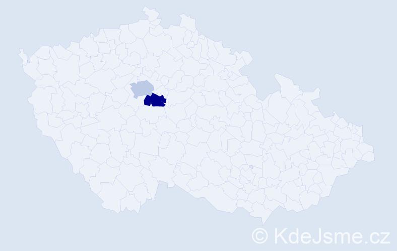 Příjmení: 'Daňhelovský', počet výskytů 7 v celé ČR