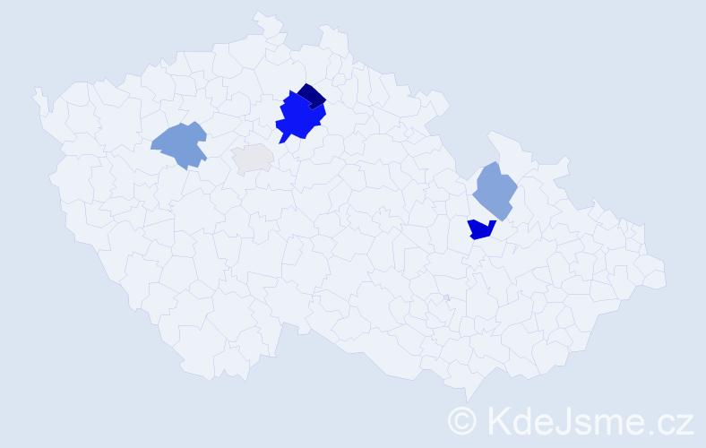 Příjmení: 'Balicz', počet výskytů 18 v celé ČR