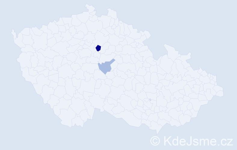 Příjmení: 'Ehrhardt', počet výskytů 4 v celé ČR