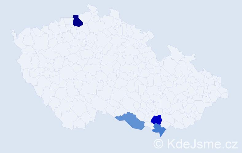 Příjmení: 'Kästnerová', počet výskytů 6 v celé ČR