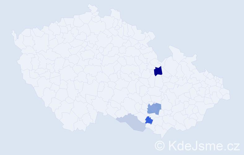 Příjmení: 'Kučínský', počet výskytů 14 v celé ČR