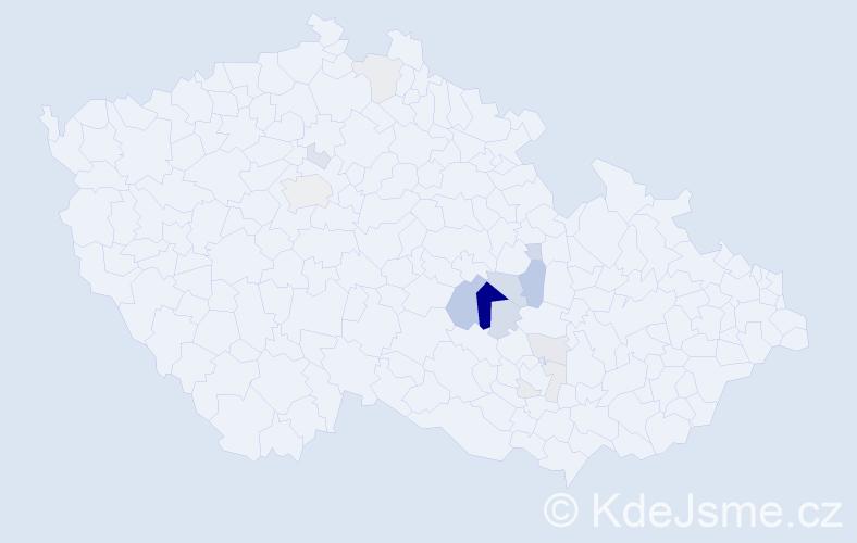 Příjmení: 'Kakačová', počet výskytů 34 v celé ČR