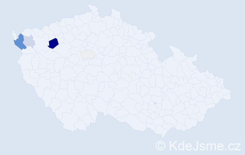 Příjmení: 'Kobal', počet výskytů 9 v celé ČR