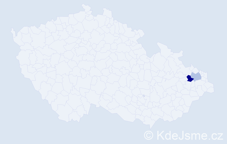 Příjmení: 'Čuperák', počet výskytů 2 v celé ČR