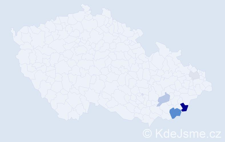 Příjmení: 'Balouch', počet výskytů 8 v celé ČR