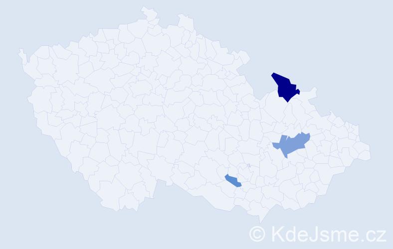 Příjmení: 'Čujová', počet výskytů 8 v celé ČR