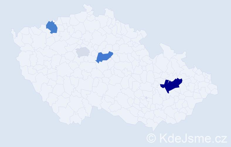 Příjmení: 'Andrewsová', počet výskytů 6 v celé ČR