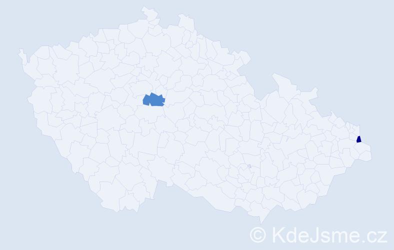 Příjmení: 'Barwise', počet výskytů 2 v celé ČR