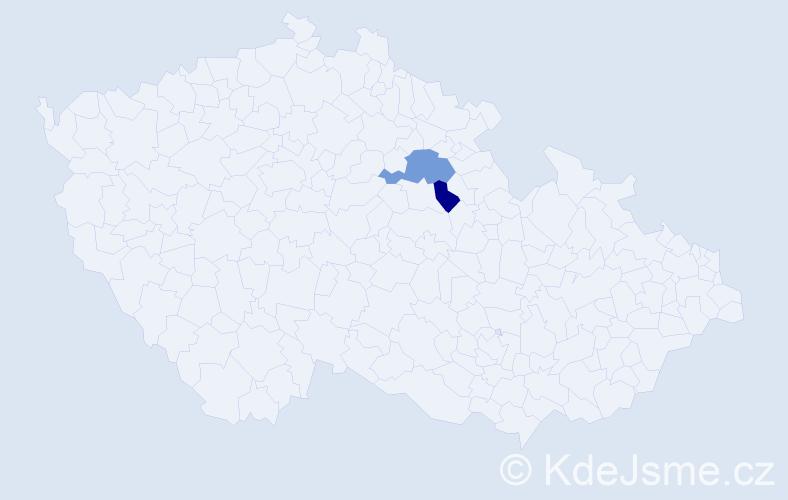Příjmení: 'Jablanov', počet výskytů 3 v celé ČR