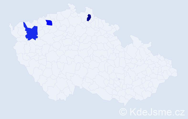 Příjmení: 'Bukerová', počet výskytů 3 v celé ČR