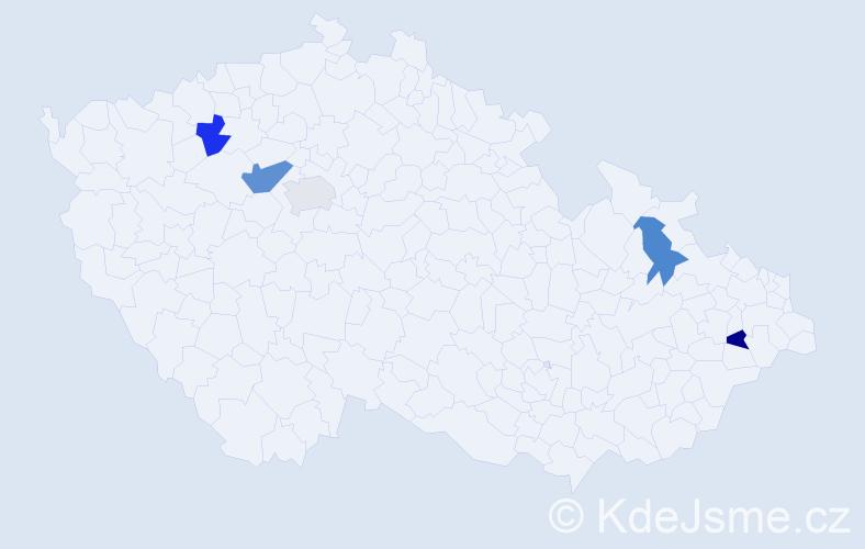 Příjmení: 'Abramová', počet výskytů 6 v celé ČR