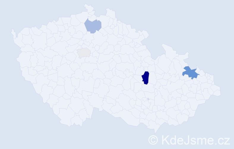 Příjmení: 'Faith', počet výskytů 8 v celé ČR