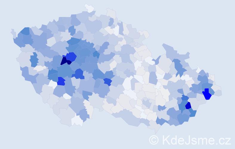 Příjmení: 'Červenková', počet výskytů 3569 v celé ČR