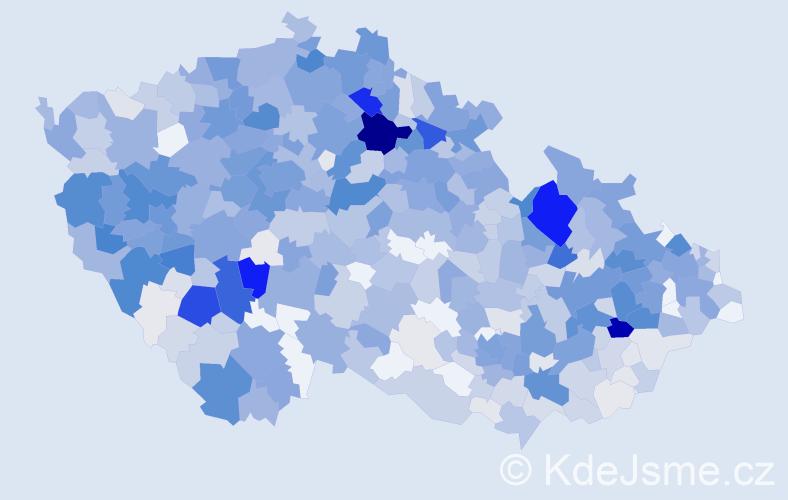 Příjmení: 'Kozák', počet výskytů 3620 v celé ČR