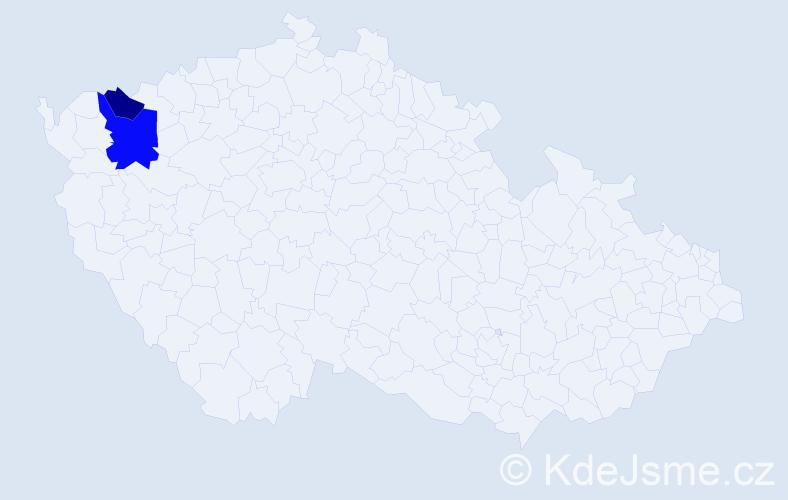 Příjmení: 'Ďurinský', počet výskytů 6 v celé ČR