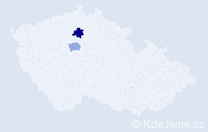 Příjmení: 'Dědíčková', počet výskytů 4 v celé ČR