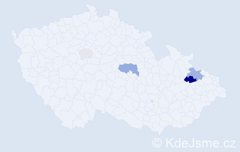 Příjmení: 'Faulhamerová', počet výskytů 4 v celé ČR