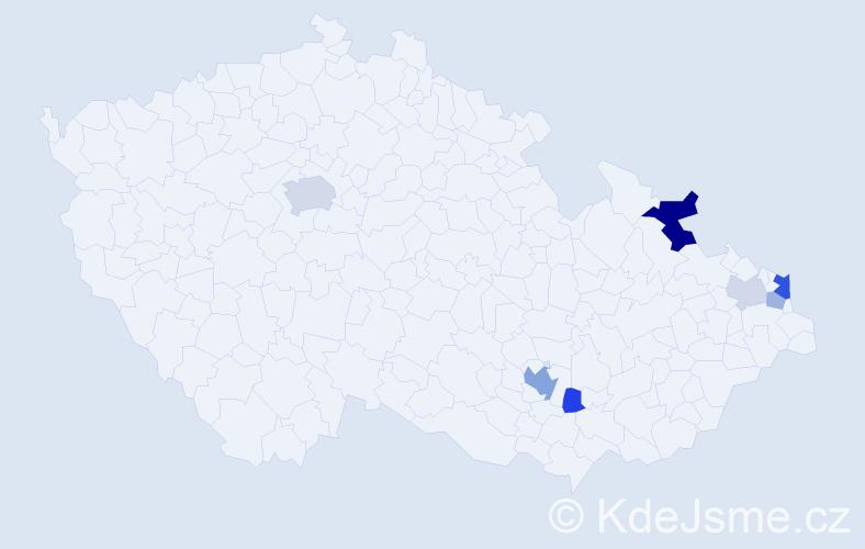 Příjmení: 'Eftimiadis', počet výskytů 16 v celé ČR